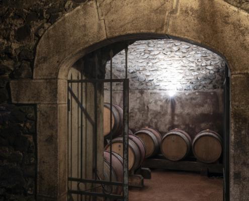 Entrée de cave chez un vigneron